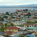 Vy över staden. Puntas Arenas