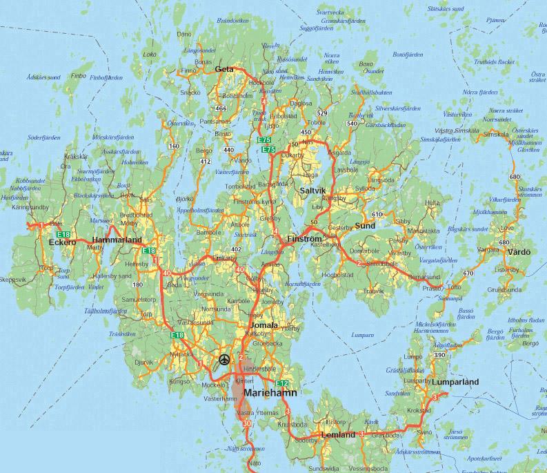 karta åland åland landsfakta, folkmängd, folkgrupper, bnp, karta mm | stalvik.se karta åland
